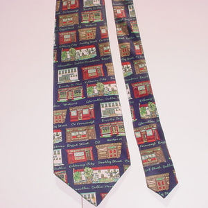 Traditional Craft Pubs of Ireland silk neck tie